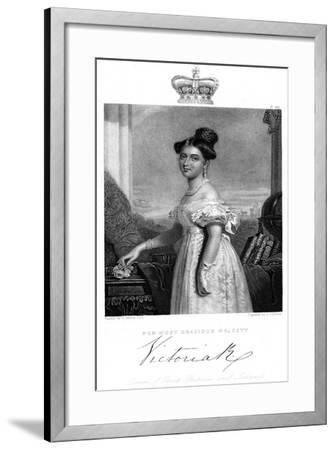 Victoria, Queen of Great Britain and Ireland, C1838-J Cochran-Framed Giclee Print