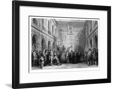 The Execution of Montmorenci, Court of the Hotel De Ville, Toulouse, 1632--Framed Giclee Print