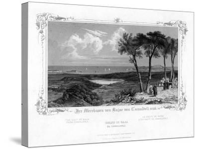 The Gulf of Baja from Camaldoli, Italy, 19th Century-J Poppel-Stretched Canvas Print