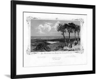 The Gulf of Baja from Camaldoli, Italy, 19th Century-J Poppel-Framed Giclee Print