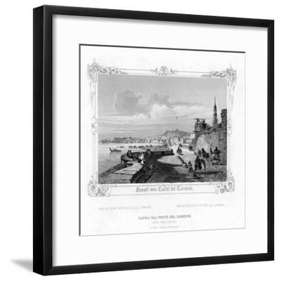 Naples from the Carmine Castle, Italy, 19th Century-J Poppel-Framed Giclee Print