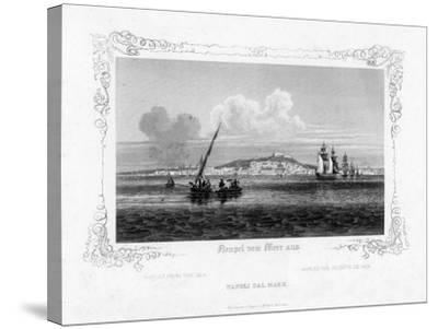 Naples from the Sea, 19th Century-J Poppel-Stretched Canvas Print