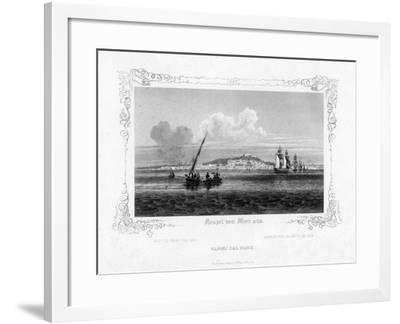 Naples from the Sea, 19th Century-J Poppel-Framed Giclee Print