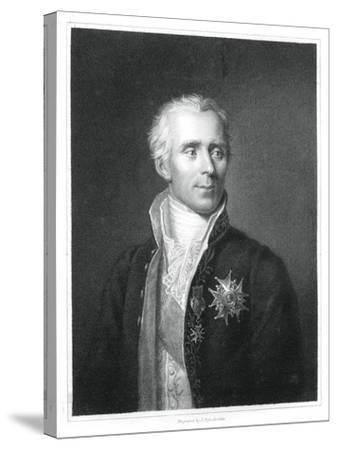Pierre Simon Laplace, French Mathematician and Astronomer-J Posselwhite-Stretched Canvas Print