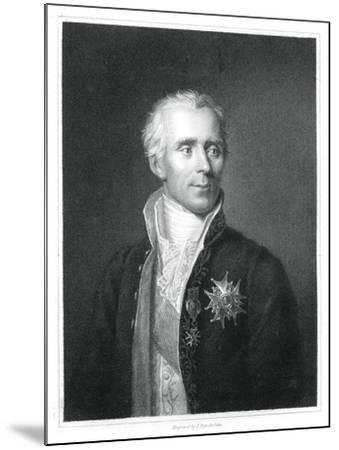 Pierre Simon Laplace, French Mathematician and Astronomer-J Posselwhite-Mounted Giclee Print