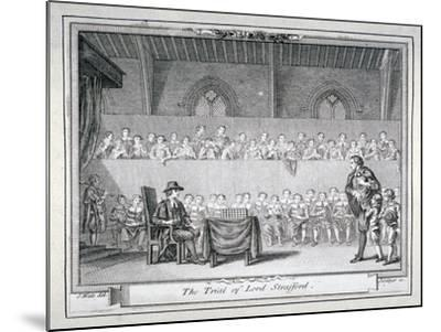 The Trial of Thomas Wentworth, Earl of Strafford, Westminster Hall, London, 1641-J Collyer-Mounted Giclee Print