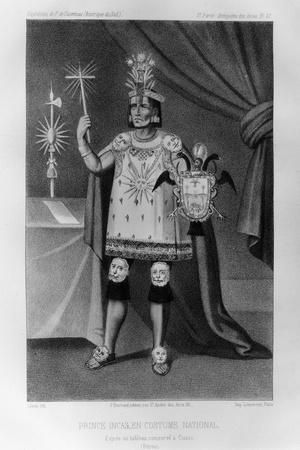 Inca Prince, National Costume, 1852-Jacques Francois Gauderique Llanta-Stretched Canvas Print
