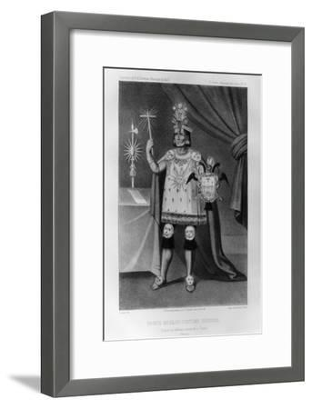 Inca Prince, National Costume, 1852-Jacques Francois Gauderique Llanta-Framed Giclee Print
