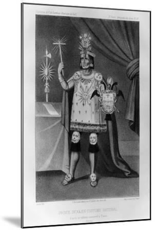Inca Prince, National Costume, 1852-Jacques Francois Gauderique Llanta-Mounted Giclee Print