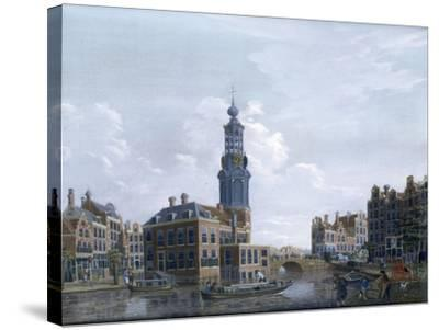 View of the Mint Tower at Amsterdam, 1777-Isaak Ouwater-Stretched Canvas Print