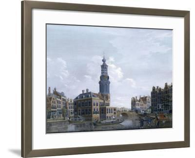 View of the Mint Tower at Amsterdam, 1777-Isaak Ouwater-Framed Giclee Print