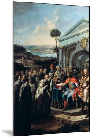 Bela III Founding the Cistercian Monastery at Szentgotthard in 1183-Istvan Dorfmeister-Mounted Giclee Print
