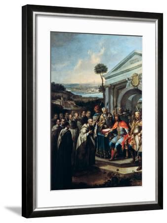 Bela III Founding the Cistercian Monastery at Szentgotthard in 1183-Istvan Dorfmeister-Framed Giclee Print