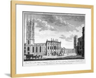 Front View of the Bank of England, City of London, 1773-J Collyer-Framed Giclee Print