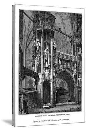 Shrine of Henry V, Westminster Abbey, 1843-J Jackson-Stretched Canvas Print