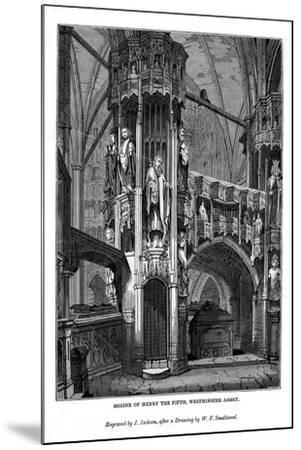 Shrine of Henry V, Westminster Abbey, 1843-J Jackson-Mounted Giclee Print