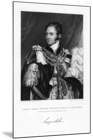 Leopold of Saxe-Coburg and Gotha, 1831-J Thomson-Mounted Giclee Print
