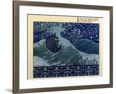 Illustration for the Poem the Tale of Tsar Saltan by Aleksandr Pushkin, 1905-Ivan Bilibin-Framed Giclee Print