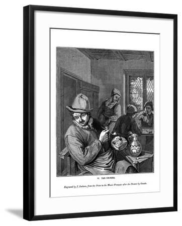 The Smoker, C1630-1680-J Jackson-Framed Giclee Print