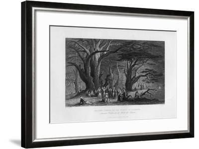 Ancient Cedars in the Forest of Lebanon, 1841-J Redaway-Framed Giclee Print