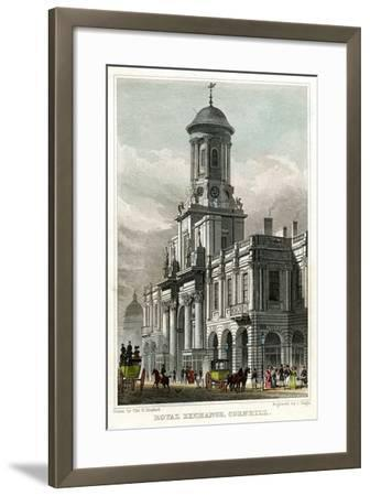 Royal Exchange, Cornhill, City of London, 1829-J Tingle-Framed Giclee Print