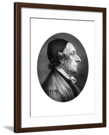 Johann Kaspar Lavater, Swiss Physiognomist and Theologian-J Chapman-Framed Giclee Print