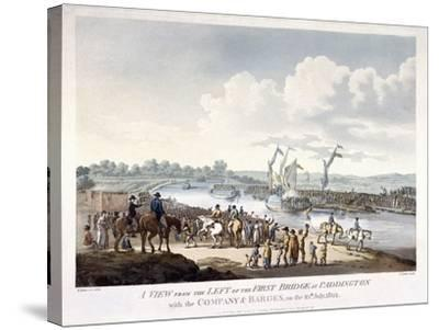Bayswater, Paddington, London, 1801-J Jeakes-Stretched Canvas Print
