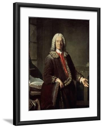 Portrait of the Poet and Tragedian Prosper Jolyot De Crébillon, 1746-Jacques-Andre-Joseph Aved-Framed Giclee Print