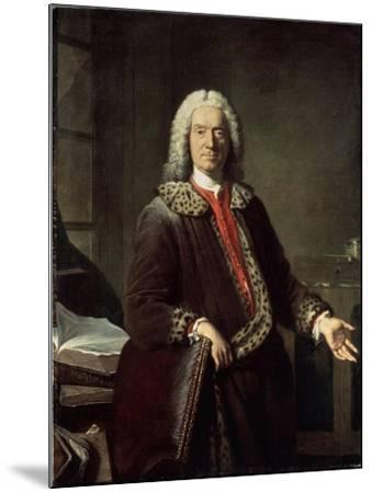 Portrait of the Poet and Tragedian Prosper Jolyot De Crébillon, 1746-Jacques-Andre-Joseph Aved-Mounted Giclee Print