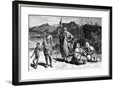 A Group of Tibbus, North Africa, 1895-Ivan Pranishnikoff-Framed Giclee Print