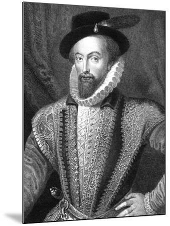 Sir Walter Raleigh, English Writer, Poet, Courtier, Adventurer and Explorer-J Fitler-Mounted Giclee Print