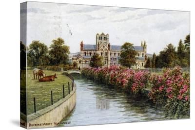 Buckfast Abbey, North View, Devon-J Salmon-Stretched Canvas Print
