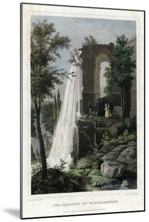 The Aqueduct at Wilhelmshöhe, Germany-J Umbach-Mounted Giclee Print