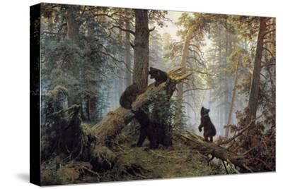 Morning in a Pinewood, 1889-Ivan Shishkin-Stretched Canvas Print