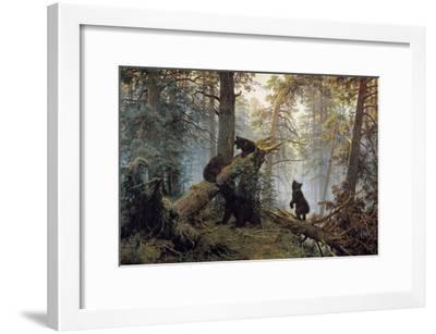 Morning in a Pinewood, 1889-Ivan Shishkin-Framed Giclee Print