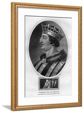 Charles VII, King of France-J Chapman-Framed Giclee Print