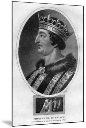 Charles VII, King of France-J Chapman-Mounted Giclee Print