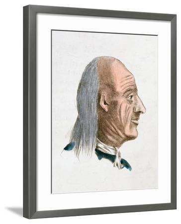 The Facial Characteristics of a Jovial and Kind Person, 1808-Johann Kaspar Lavater-Framed Giclee Print