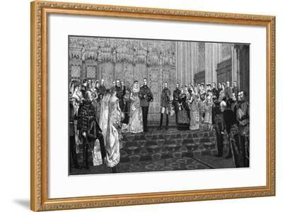 The Marriage of the Duke and Duchess of Albany, 27 April 1882-James Dromgole Linton-Framed Giclee Print