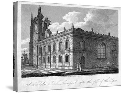 St Nicholas Church, Liverpool, Merseyside, 1812-James Sargant Storer-Stretched Canvas Print