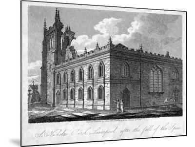 St Nicholas Church, Liverpool, Merseyside, 1812-James Sargant Storer-Mounted Giclee Print