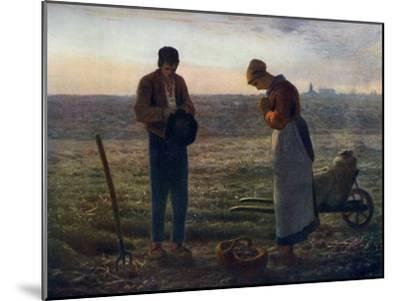 The Angelus, 1857-1859-Jean Francois Millet-Mounted Giclee Print