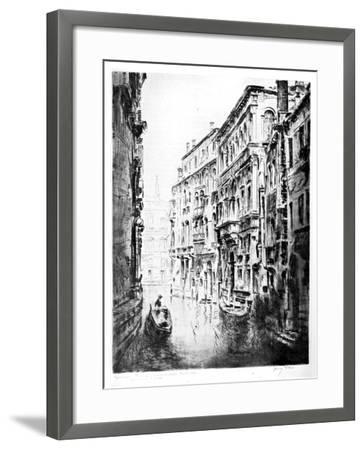 Grimari Canal, Venice, 1930-JF Barry Pittar-Framed Giclee Print