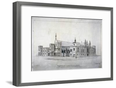 Suggestions for Alterations to the Buildings Adjoining Westminster Hall, London, C1825-James Duffield Harding-Framed Giclee Print