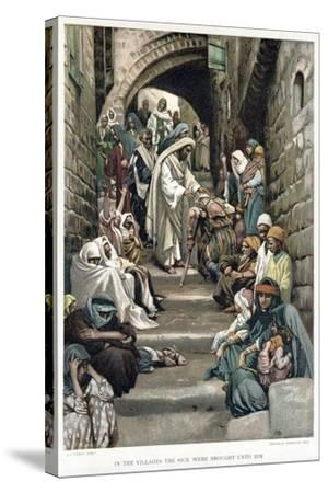 Christ Healing the Sick Brought to Him in the Villages, C1890-James Jacques Joseph Tissot-Stretched Canvas Print