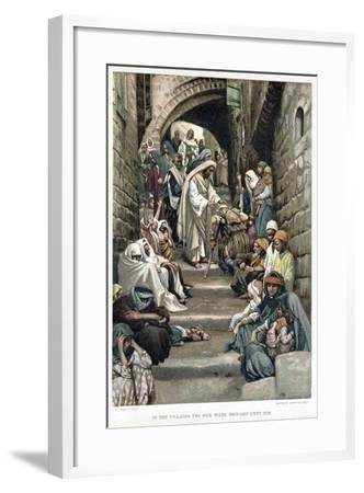 Christ Healing the Sick Brought to Him in the Villages, C1890-James Jacques Joseph Tissot-Framed Giclee Print