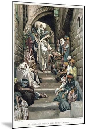Christ Healing the Sick Brought to Him in the Villages, C1890-James Jacques Joseph Tissot-Mounted Giclee Print