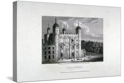 Tower of London, 1808-James Sargant Storer-Stretched Canvas Print