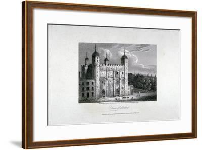 Tower of London, 1808-James Sargant Storer-Framed Giclee Print