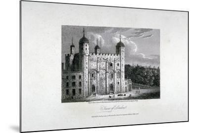 Tower of London, 1808-James Sargant Storer-Mounted Giclee Print